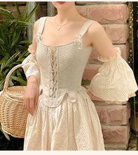 Load image into Gallery viewer, Handmade Vintage Period Drama Inspired lace up corset & Chemise