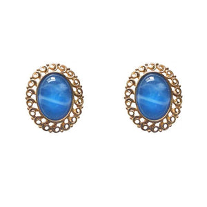 Geometric Blue Earrings Ear Clip
