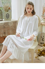 Load image into Gallery viewer, Retro Style Cotton Night gown Night Dress