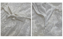 Load image into Gallery viewer, Retro Dreamy Cottagecore Square collar lace embroidered dress