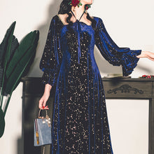 Load image into Gallery viewer, Vintage Style Princess Velvet Starry Dress