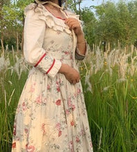 Load image into Gallery viewer, [Premium] Handmade Cottagecore Antique style Floral Print Vintage 30s Dress