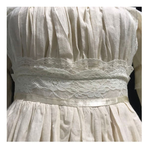 [Handmade] Period Drama Inspired Victorian Style Cotton Antique Dress