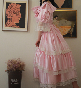 Antique Style Princess Vintage 50s Dress Wedding Gown
