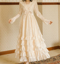 Load image into Gallery viewer, Fairycore Princess Lace Vintage Dress
