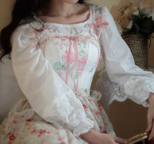 Load image into Gallery viewer, Vintage Handmade Embroidery Cotton Chemise Home wear 2 pieces