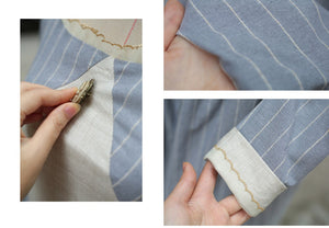 [Premium] Handmade Period Drama Inspired square collar Vintage linen Dress