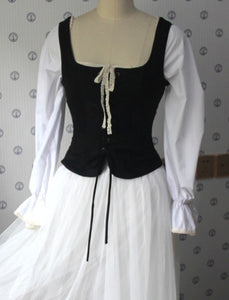 Medieval Style Vintage square collar waistcoat vest