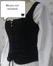 Load image into Gallery viewer, Medieval Style Vintage square collar waistcoat vest