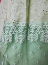 Load image into Gallery viewer, Vintage Lace Stitching Green Princess Dress
