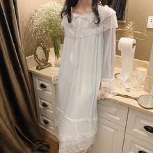 Load image into Gallery viewer, Princess Lace Sleepwear Night Dress Home Wear