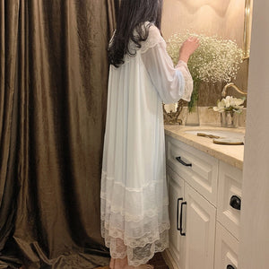 Princess Lace Sleepwear Night Dress Home Wear
