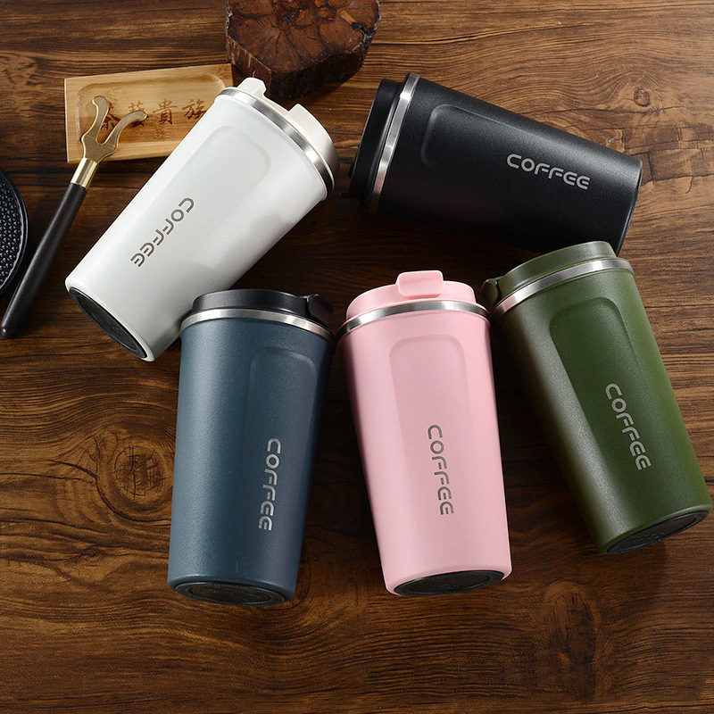 380ml/510ml Stainless Steel Coffee Thermos Mug Portable Car Vacuum Flasks Travel Thermo Cup Water Bottle Thermocup