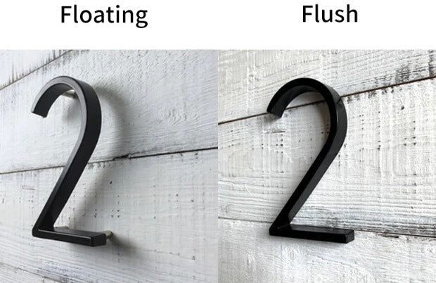 Big House Numbers For Front Door Porch 127mm Waterproof Zinc Alloy Floating Numbers Polished Edge Smooth Touch Front Door Decoration