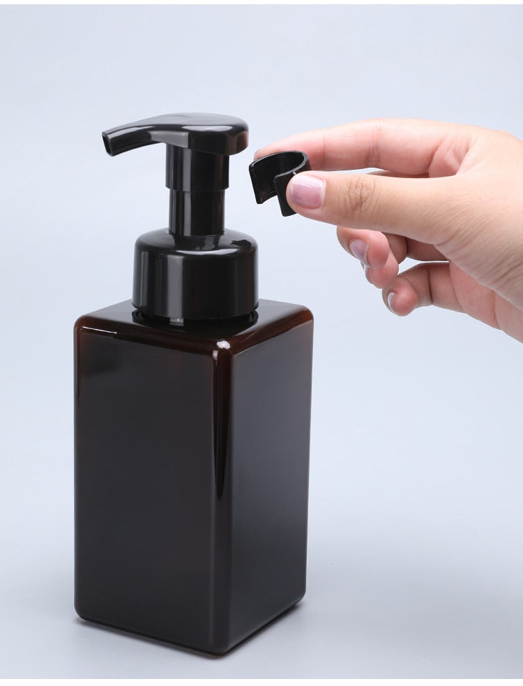 Blank Liquid Soap Dispensers Simple Modern Design Reusable Containers Foam Pump Bottles For Soap Hand Lotion Beauty Hair Cosmetics Essential Bathroom Accessories