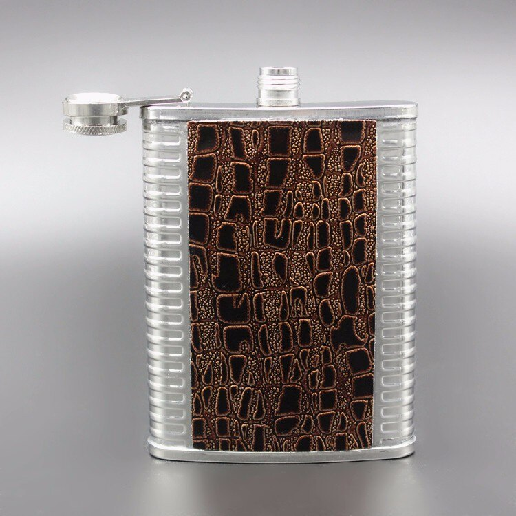 Classic Stainless Steel Hip Flask For Whiskey Brandy Vodka Tequila Vintage Design Portable Drinkware Flask With Funnel And Cap Perfect Gift Drinks Canteen For Travel Tour etc