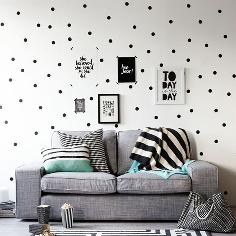 Colored Polka Dots Wall Stickers For Kids Room Wall Decor Colorful Nursery Dots House Boutique