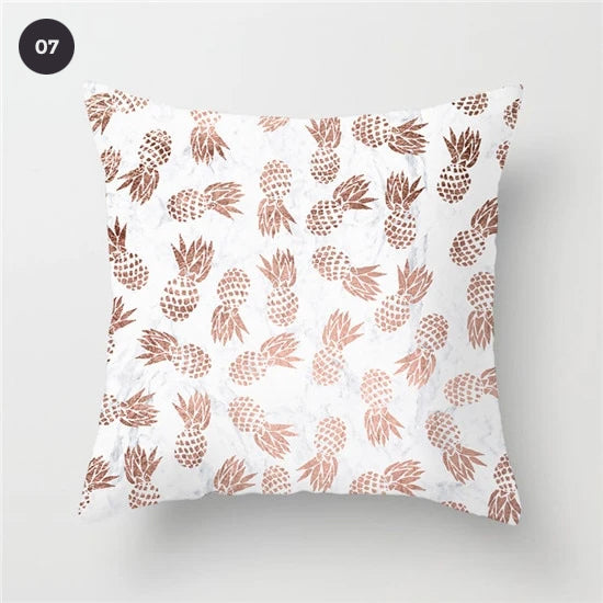 Colorful Nordic Style Cushion Covers Pink Agate Print Geometric Pillow Case 45x45cm For Modern Living Room Interior Glam Home Decor