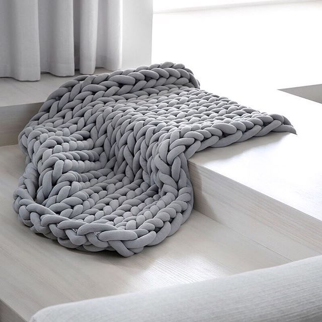 Extra Chunky Thick Yarn Hand Knitted Blanket Sofa Throw Thick Bedspread Blanket Bulky Weighted Cosy Warm Modern Stylish Fashion Sofa Throw Blanket For Winter
