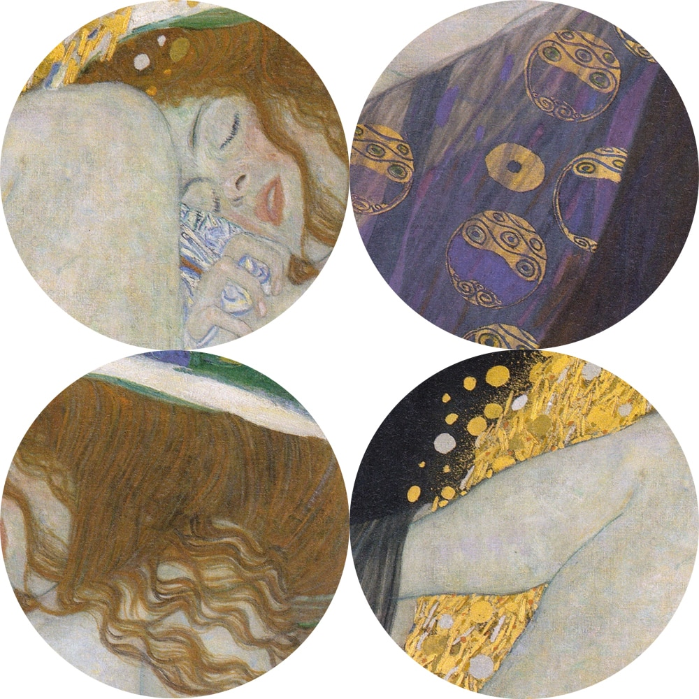 Famous Artists Gustav Klimt Portrait Of Danae Golden Wall Art Fine Art Canvas Print Reproduction Of Famous Paintings For Living Room