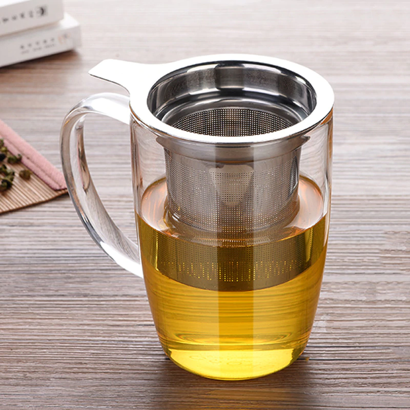 Fine Mesh Stainless Steel Tea Infuser Large Capacity Herbal Tea Filter Loose Leaf Tea Steeper Tea Leaves Strainer Teaware Accessories Herbal Diffuser