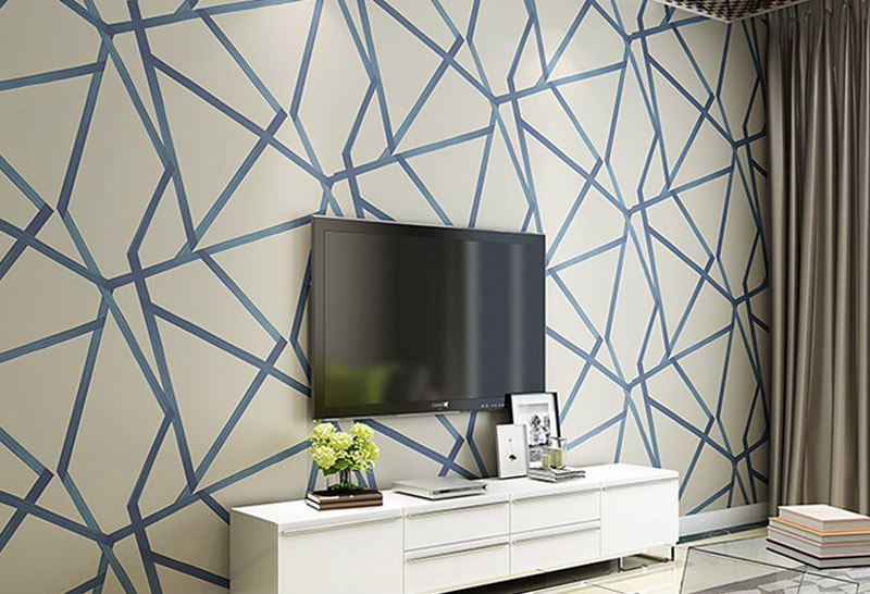 Gold Shimmer Geometric Abstract Wallpaper For Salon Boutique Modern Office Contemporary Living Room Bedroom Decor Glam Home Decor