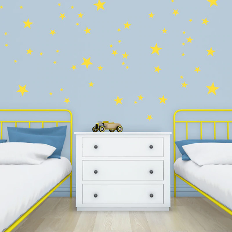 Gold Star Wall Decals Baby's Room Decor Stickers Nursery Room Decor Children's Bedroom Removable Wall Decals Creative Wall Art