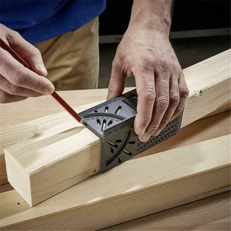 Handy Woodworking Mitre Measuring Tool For Gauging Parallel Lines Angles & Accurate Hole Placement For Sawing And Drilling Wood, Pipes etc
