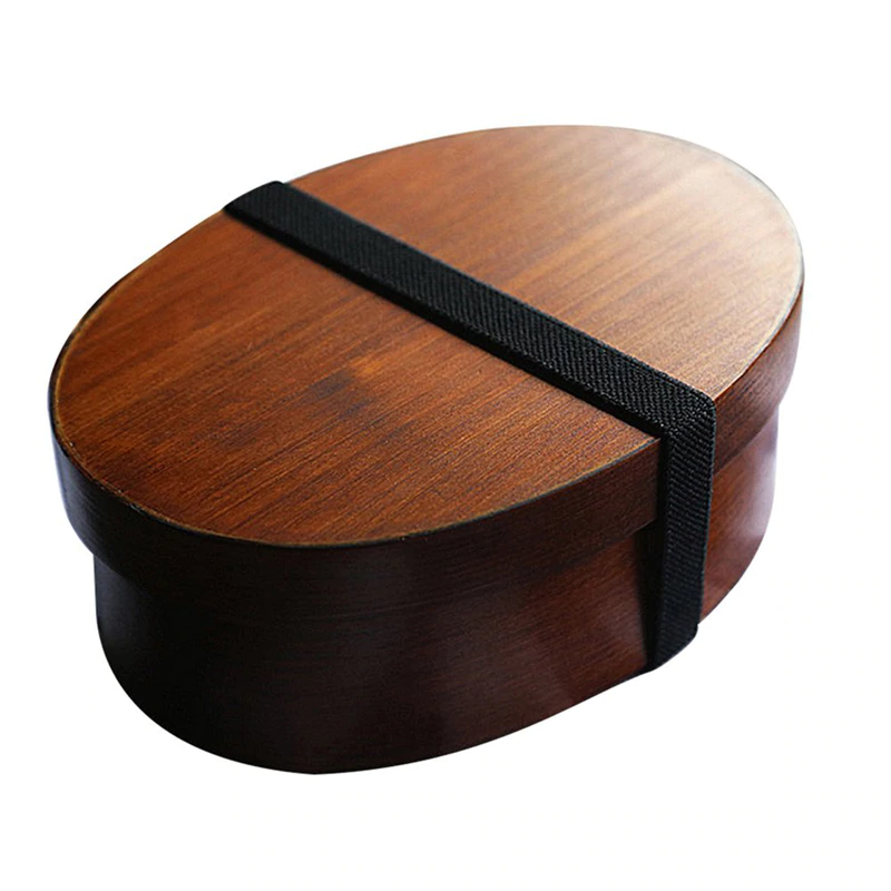 Japanese Style Wooden Lunch Box For Packed Lunch Picnic Travel Food Partitioned Container For Small Fruit Sushi Food Box Japanese Style Tableware