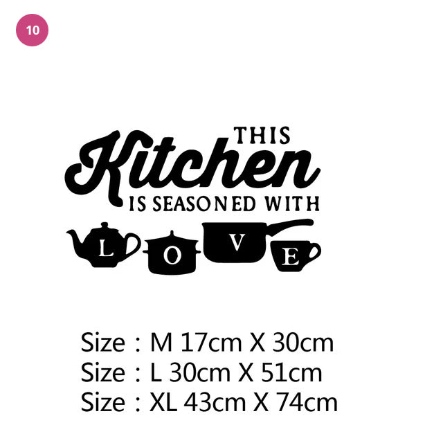Kitchen Fun Vinyl Wall Decals Large Stickers For Fridges Windows Walls Cupboards etc Humorous Coffee Food Bakery Cafe Decor