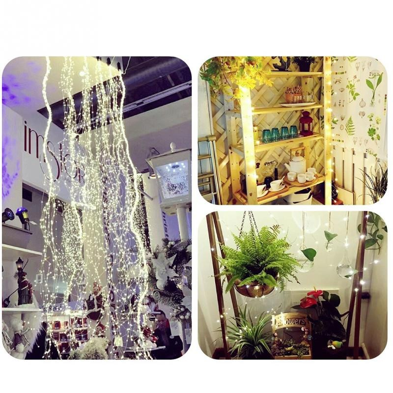 LED Garland String Fairy Lights Battery Powered LED White Lights Can Be Used For Wall With Photo Clip For Wedding Party BBQ General Home Decor