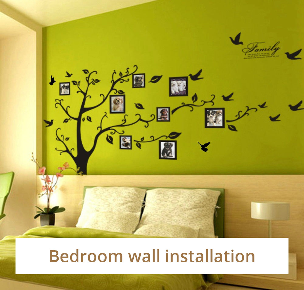 Large 200x250cm Family Photo Tree Wall Mural DIY Wall Art Decal Removable Adhesive PVC Wall Decoration For Living Room