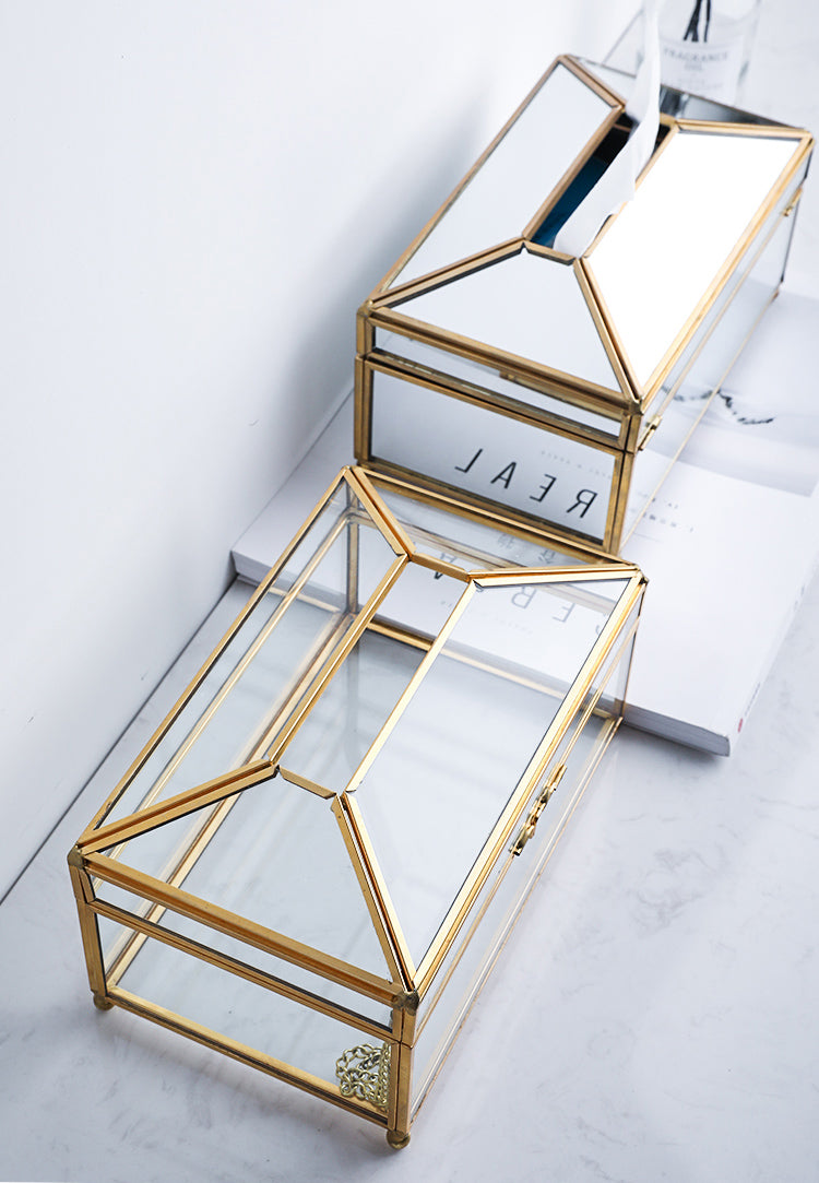 """<h3><span>Luxury Handmade Nordic Tissue Box Metal Brass And Glass Mirror <span style=""""font-size: 16.38px;"""">Decorative</span>&nbsp;Napkin Dispenser For Table Desktop Storage Box&nbsp;For Cosmetics Makeup Accessories etc.&nbsp;</span></h3> <p><span><strong>Material:</strong> Metal&nbsp;</span><br><span><strong>Laying Method:</strong> Seat Type&nbsp;</span><br><span><strong>Type:</strong> Tissue Canister&nbsp;</span><br><span><strong>Applicable Tissue:</strong> Removable Tissue&nbsp;</span><br><span><strong>Style:</strong> European&nbsp;</span><br><span><strong>Model Number:</strong> Tissue Box&nbsp;</span><br><span><strong>Material:</strong> Glass And Brass&nbsp;</span><br><span><strong>Color:</strong> As Details&nbsp;</span><br><span><strong>Feature1:</strong> 100% High Quality&nbsp;</span><br><span><strong>Feature2:</strong> Luxury And Nordic&nbsp;</span><br><span><strong>Feature3:</strong> Easy To Change Tissues&nbsp;</span><br><span><strong>Feature4:</strong> Handmade And With Chain&nbsp;</span></p> <p><span><img alt=""""Luxury Handmade Nordic Tissue Box Metal Brass And Glass Mirror Decorative Napkin Dispenser For Table Desktop Storage Box For Cosmetics Makeup Accessories etc"""" src=""""https://cdn.shopify.com/s/files/1/0270/7796/7917/files/Luxury_Handmade_Nordic_Tissue_Box_Metal_Brass_And_Glass_Mirror_Napkin_Dispenser_For_Table_Desktop_Storage_Box_For_Cosmetics_Makeup_Accessories_1.jpg?v=1612571552""""></span></p> <p><span><img alt=""""Luxury Handmade Nordic Tissue Box Metal Brass And Glass Mirror Decorative Napkin Dispenser For Table Desktop Storage Box For Cosmetics Makeup Accessories etc"""" src=""""https://cdn.shopify.com/s/files/1/0270/7796/7917/files/Luxury_Handmade_Nordic_Tissue_Box_Metal_Brass_And_Glass_Mirror_Napkin_Dispenser_For_Table_Desktop_Storage_Box_For_Cosmetics_Makeup_Accessories_2.jpg?v=1612571571""""></span></p> <p><span><img alt=""""Luxury Handmade Nordic Tissue Box Metal Brass And Glass Mirror Decorative Napkin Dispenser For Table Desktop Storage Box For Cosmetics Mak"""