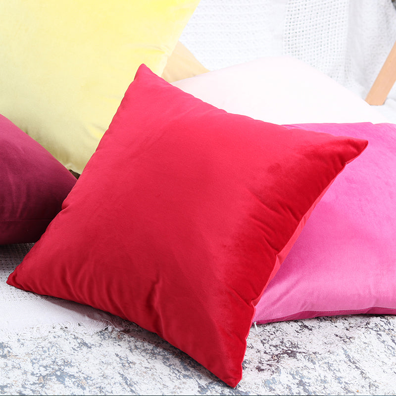 Luxury Soft Velvet Cushion Cases Pink Blue Gold Black Grey Yellow Green Cream Sofa Throw Pillow Case Covers For Luxury Home Decor