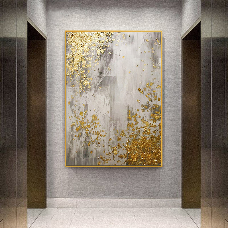 Modern Golden Chic Abstract Nordic Wall Art Fine Art Canvas Prints Pictures For Living Room Bedroom Dining Room Luxury Minimalist Home Art Decor
