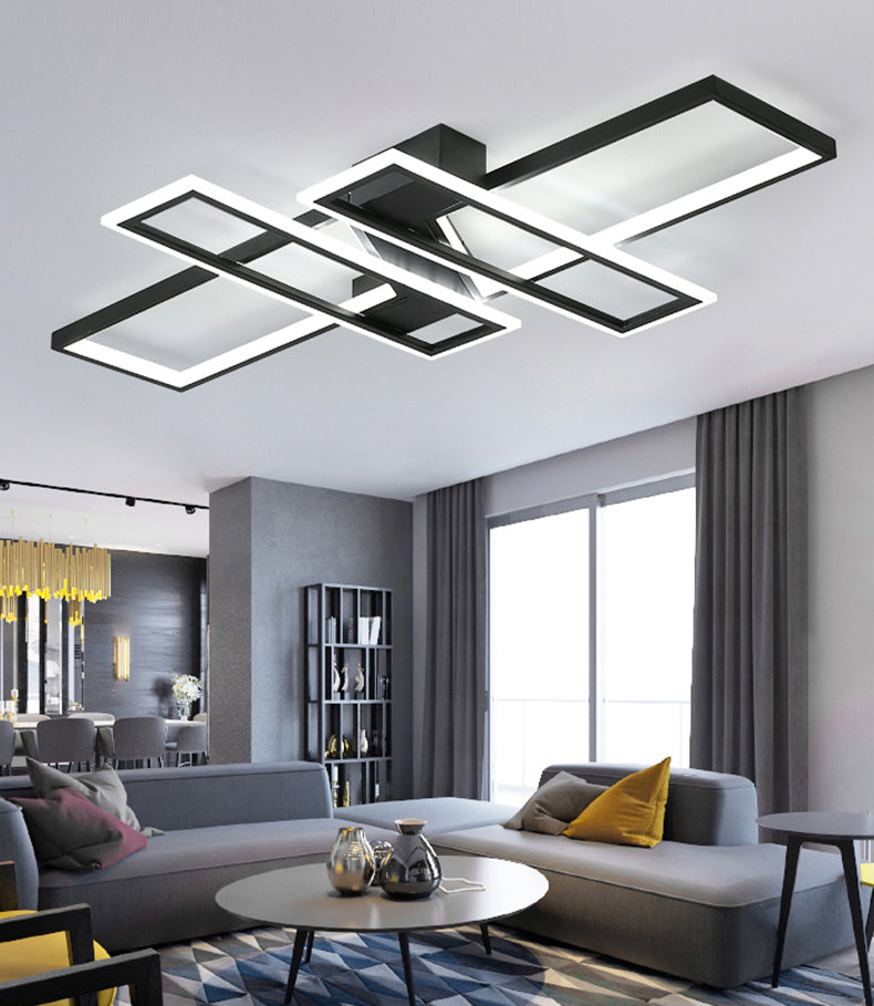 Modern Geometrical Ceiling Light Abstract Aluminum LED Chandelier For Living Room Dining Room Home Office Interior Lighting Solution