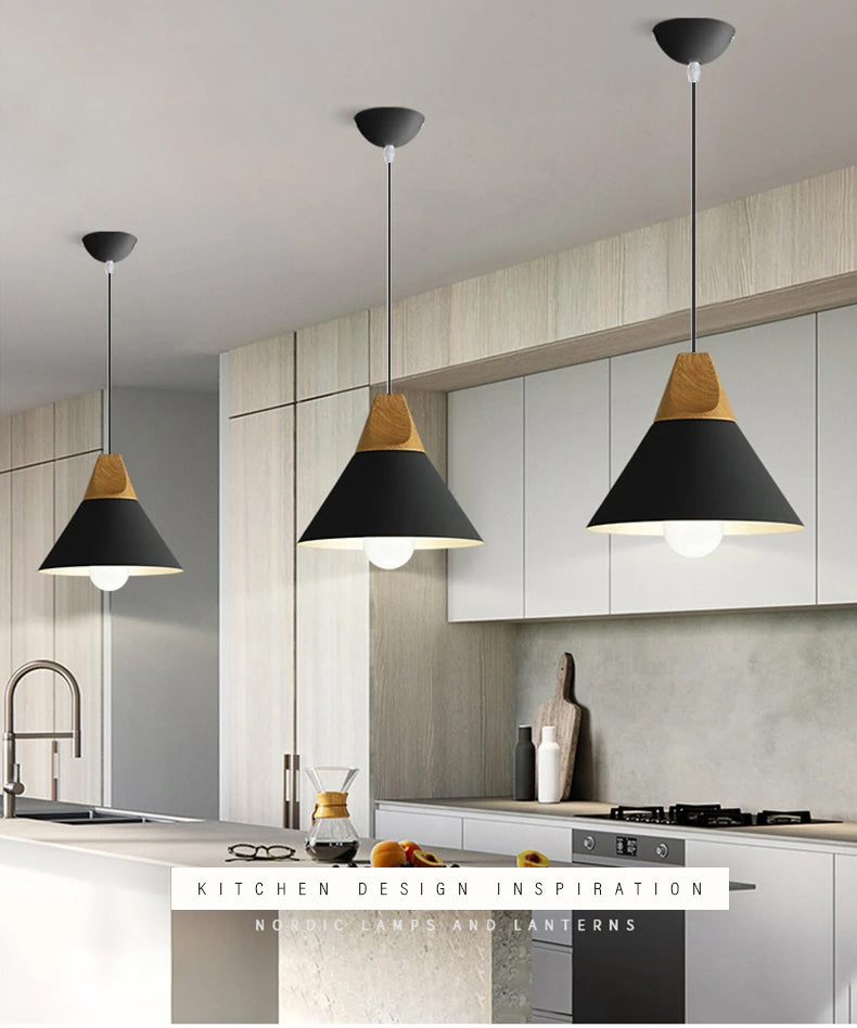 Modern LED Pendant Lamps For Dining Room Kitchen Living Room Study Simple Stylish Fashionable Home Decor Minimalist Nordic Hanging Lamps in 7 Colors