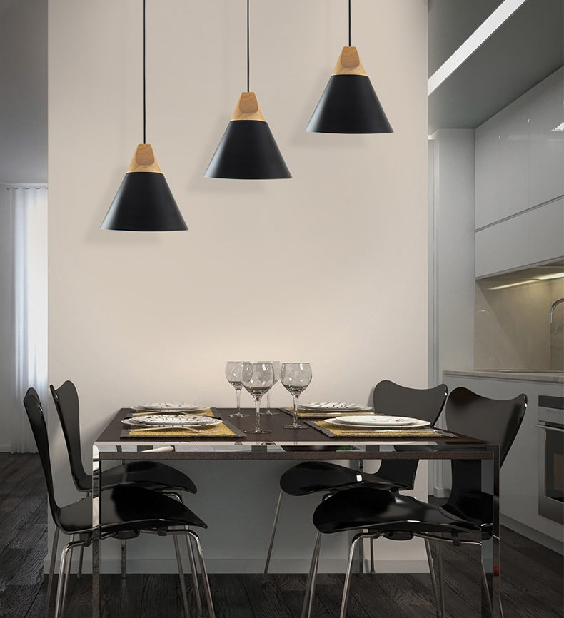 Modern LED Pendant Lamps For Dining Room Kitchen Living Room Study Simple Stylish Fashionable Minimalist Nordic Hanging Lamps For Contemporary Home Interior Decor