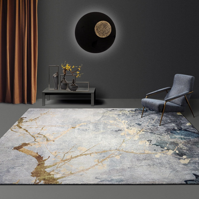 Modern Nordic Minimalist Area Rug Fluffy Pile Abstract Design Contemporary Rug For Bedroom Living Room Light Luxury Rug For Home Or Office Decor