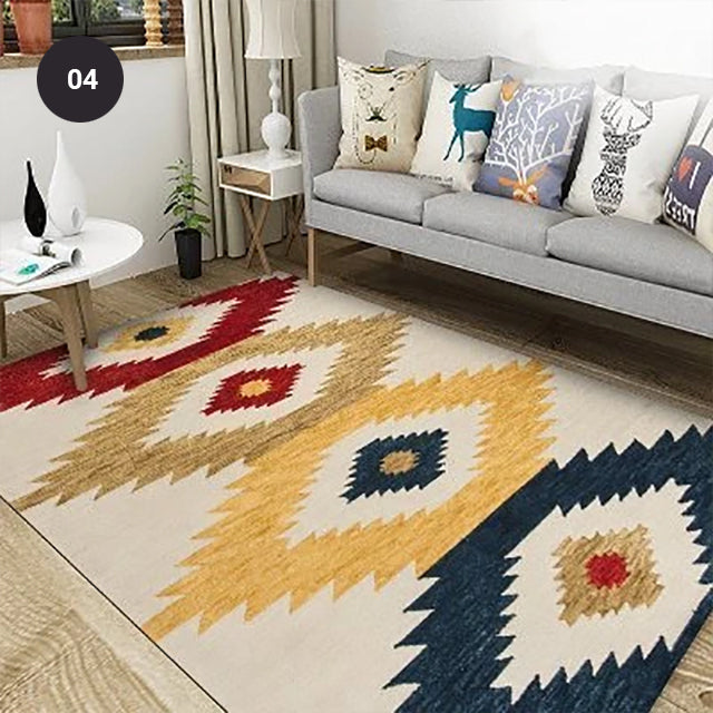 Modern Nordic Rug Colorful Vintage Geometric Design Area Mat For Living Room Dining Room Bedroom Carpet Sofa Rug Coffee Table Floor Mat Rectangle 10 Sizes