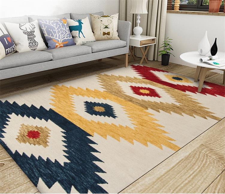 Modern Nordic Rug Colorful Vintage Geometric Design Area Mat For Living Room Dining Room Bedroom Carpet Sofa Rug Coffee  (3)