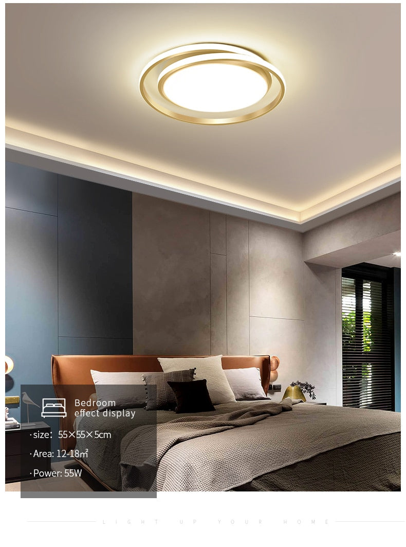 Modern Rounded Design LED Ceiling Light Chandelier For Living Room Dining Room Bedroom Lighting Avante-Garde Styling Contemporary Home Interior Lighting Solution