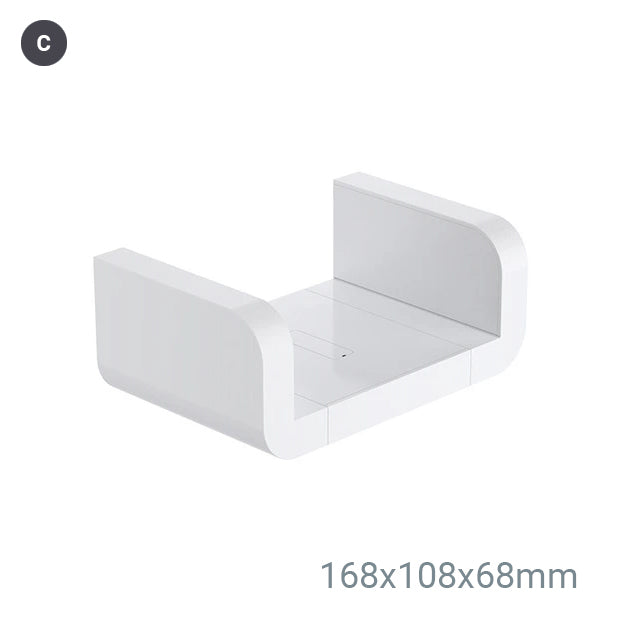 Modern White Bathroom Storage Shelves Cosmetics Holders Shower Rack Kitchen Shelves Bathroom Shower Waterproof Plastic Shelf