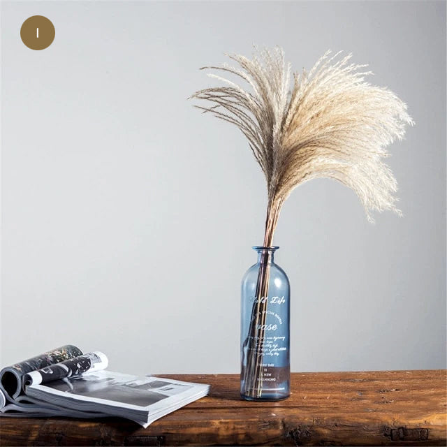 Natural Pampas Grass Bouquet Decorative Dried Plants For Bohemian Style Living Room Dining Room Bedroom Trending Decor BoHo Style Home Interior Decoration