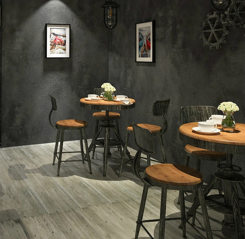 Plain Gray Concrete Vinyl Wallpaper Retro Urban Modern Wall Covering For Shop Cafe Living Room Loft Bar Office Concrete Effect Wallpaper For Contemporary Home Decor