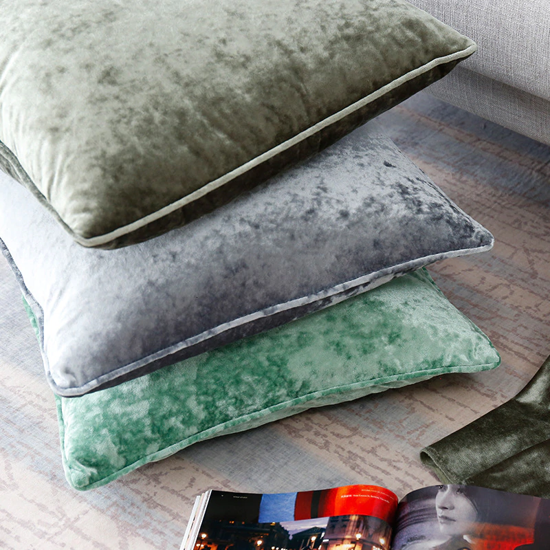Pure Velvet Sofa Cushion Cover Elegant Fashionable Velvet Fabric Pillowcase Luxury Sofa Cushion Cover Square Size 50x50cm