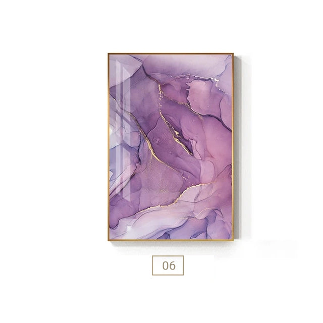 Purple Pink Abstracts Modern Contemporary Wall Art Fine Art Canvas Prints For Bedroom Or Living Room Pictures Office or Home Glam Interior Decor.