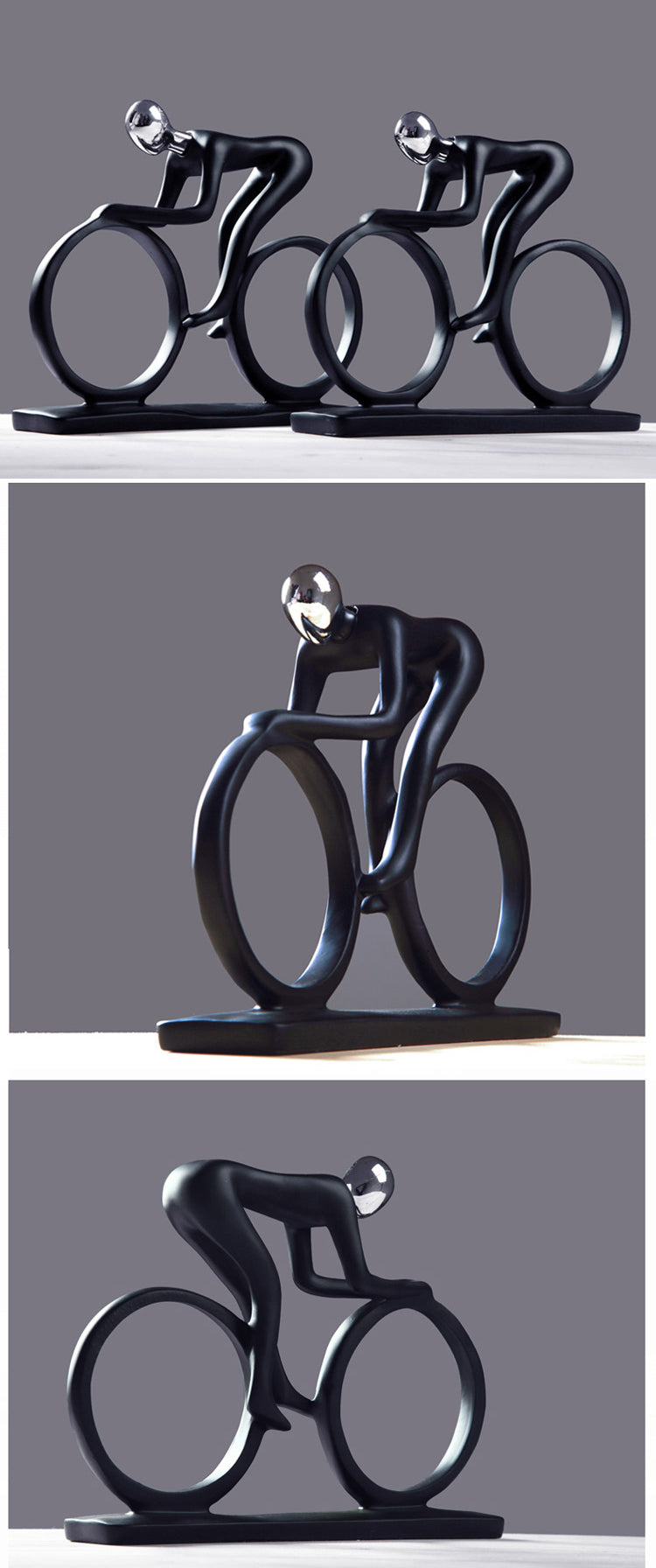 Racy Champion Cyclist Figurine Resin Statue Modern Abstract Bicycle Sculpture Athlete Art Ornament Home Decor Gift For Keen Cyclists