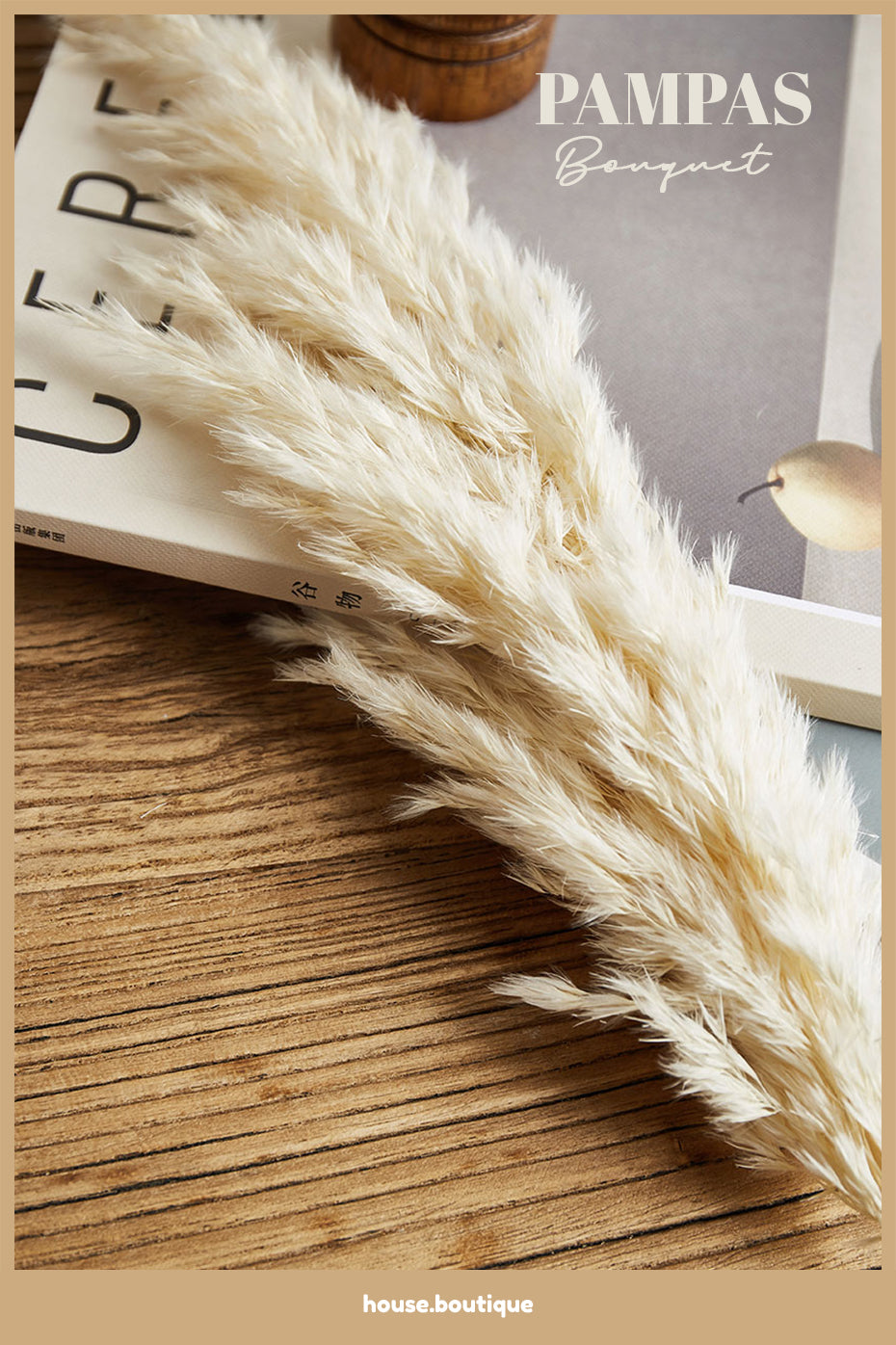 Real Pampas Grass Natural Dried Flowers Modern Bohemian Home Styling Bleached White Color Fluffy Natural Floral Bouquet For Boho Style Home Interior Decor