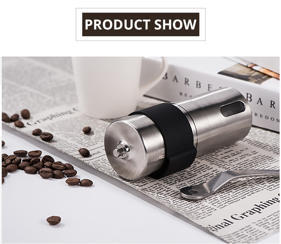 Stainless Steel Coffee Grinder Adjustable Coffee Bean Mill To Create Rough Or Fine Ground Coffee Easy Operation Easy Clean Kitchen Coffee Tools